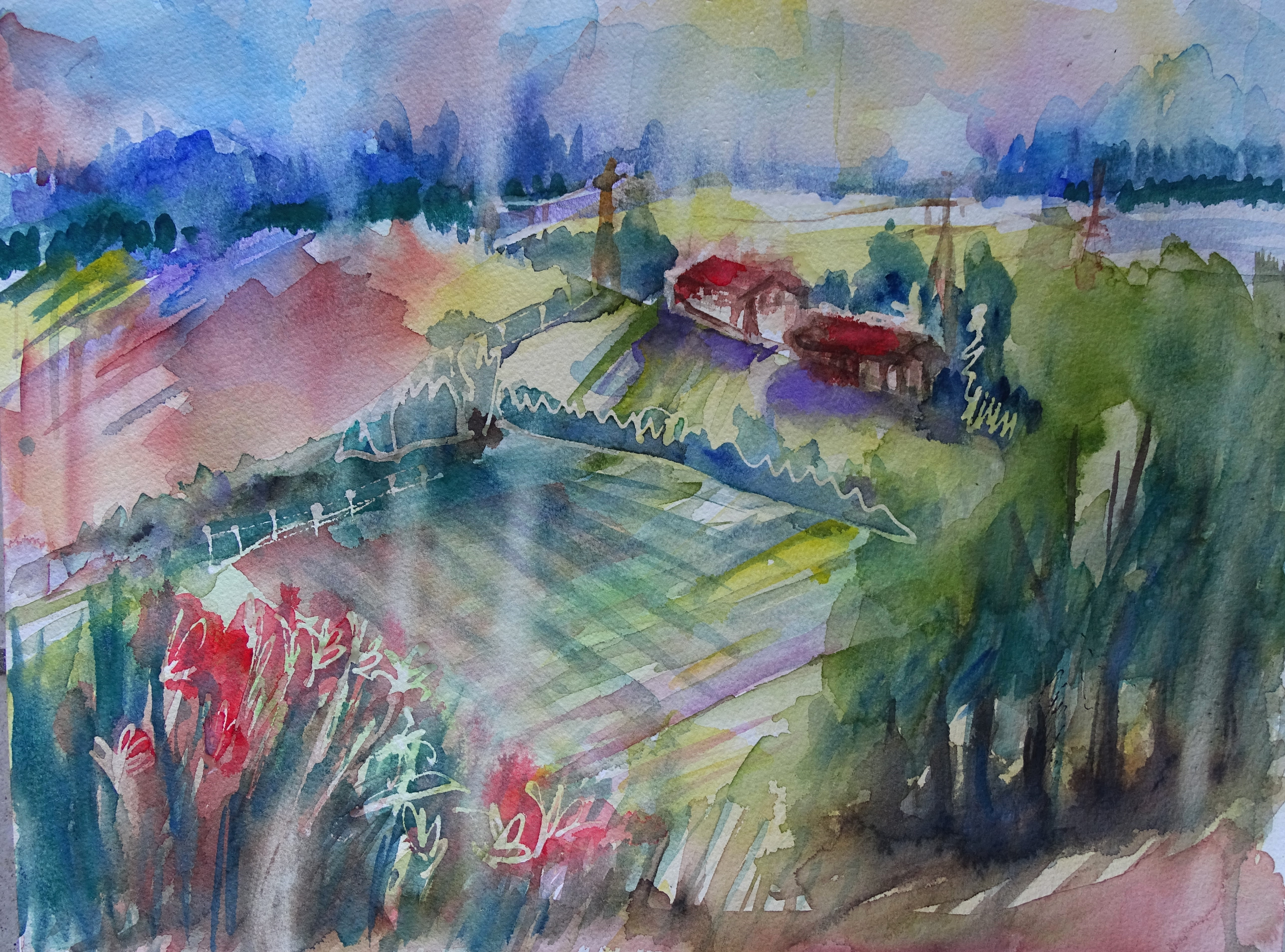 Bavaria-Landscape-Watercolour-Nadia-Baumgart