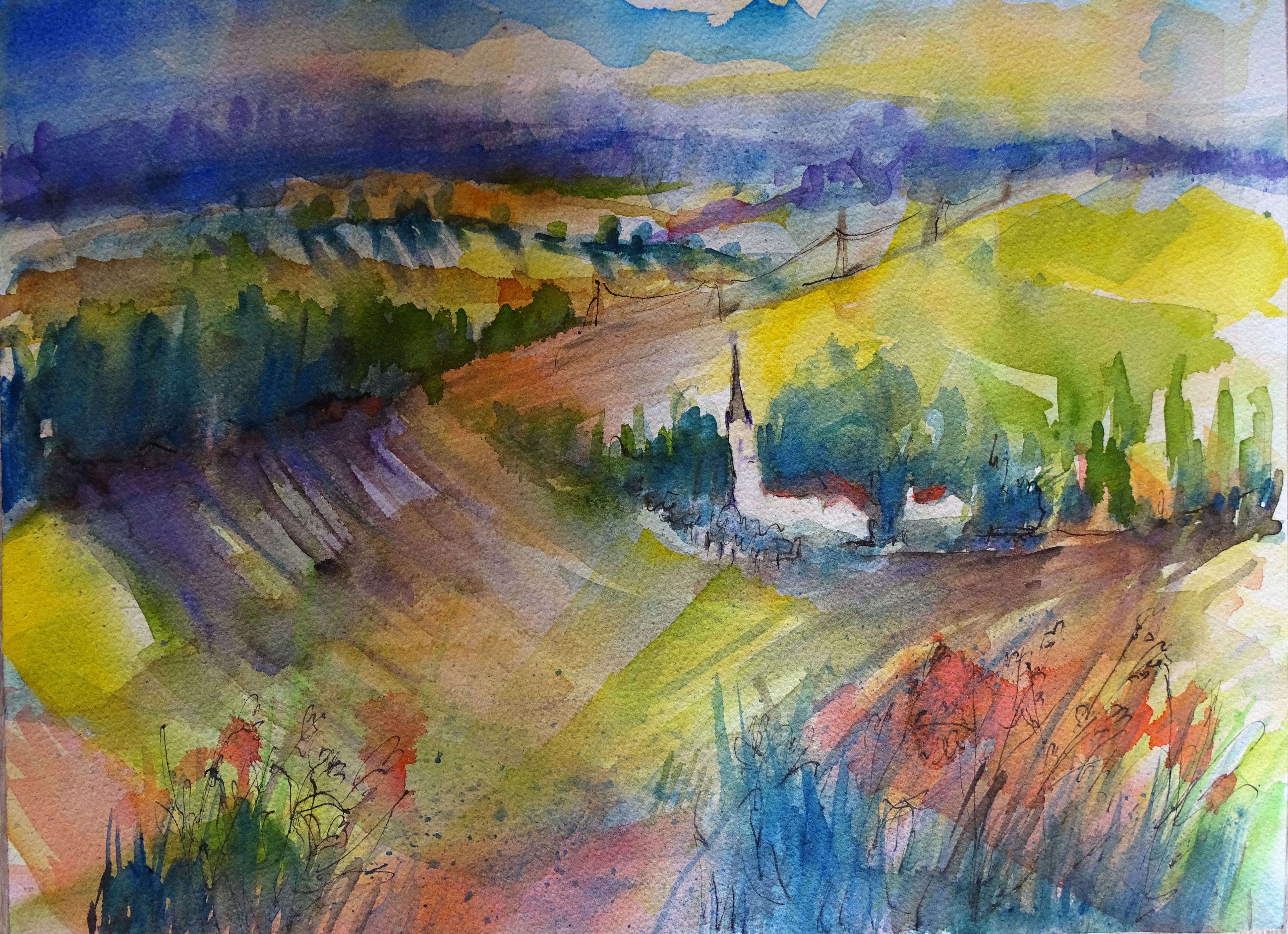 Rottal-Inn-Aquarell-Nadia-Baumgart-watercolour