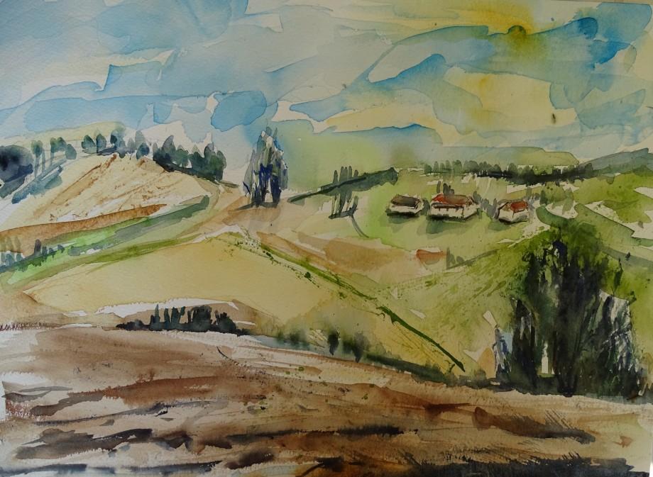 Paysage-bavarois-aquarelle-Nadia-Baumgart-3