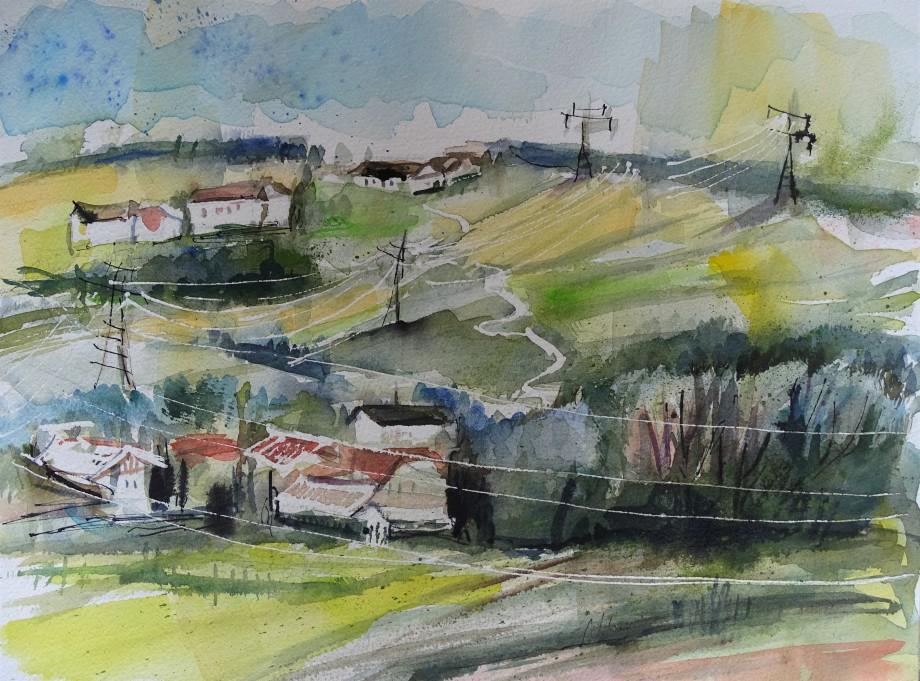 Stromleitungen-Aquarell-Nadia-Baumgart