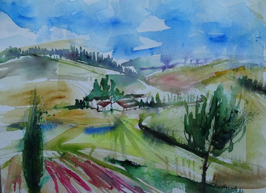 Niederbayern-Aquarell-Lower-Bavaria-Nadia-Baumgart-2