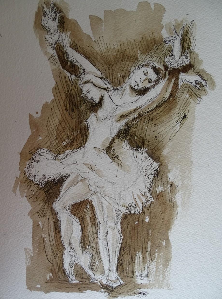 Tanz-Federzeichnung-Nadia-Baumgart