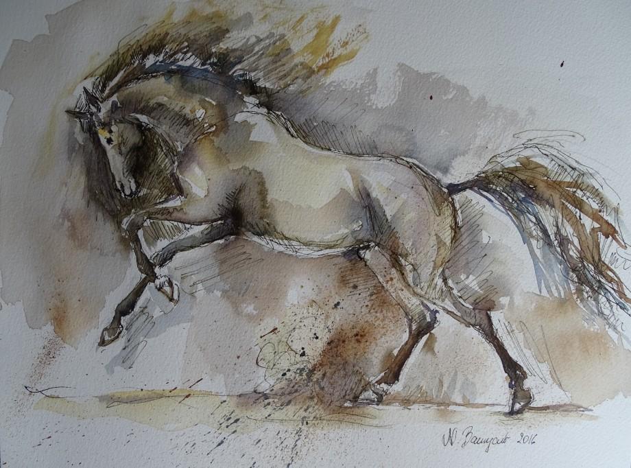 galoppierendes-pferd-aquarell-nadia-baumgart