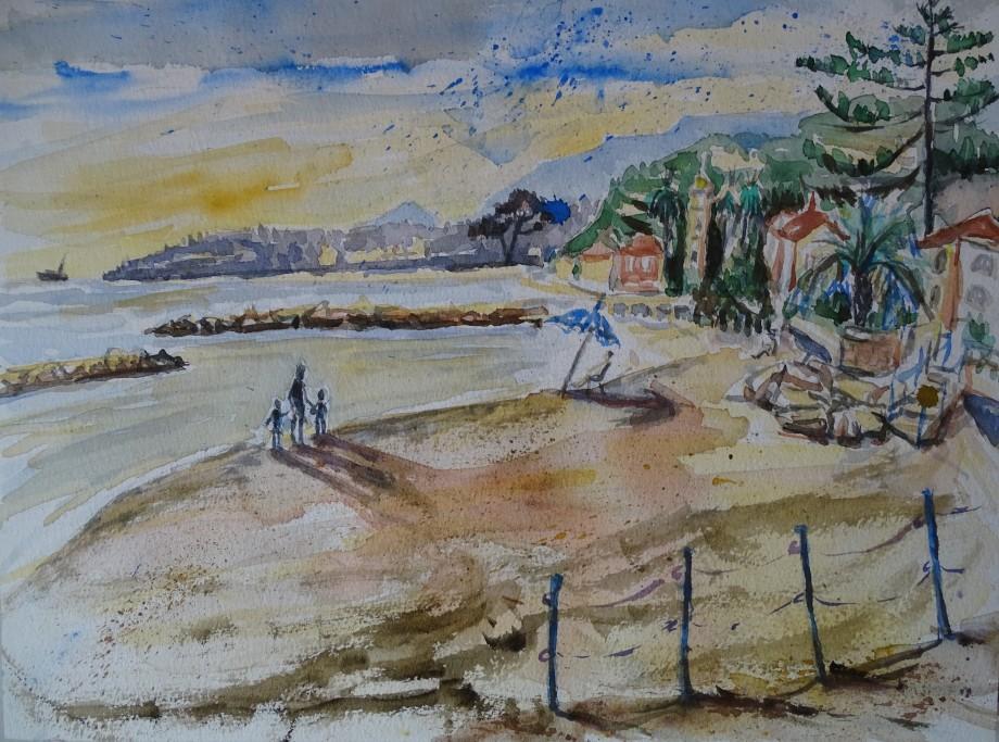 strand-spiaggia-aquarell-nadia-baumgart