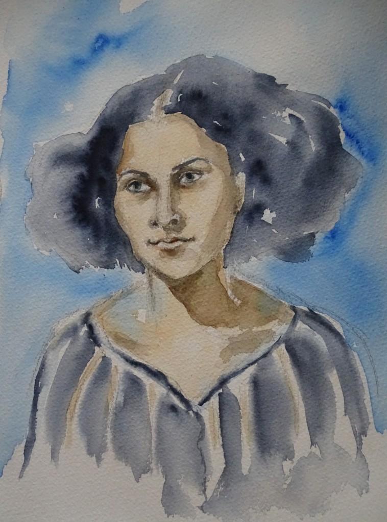 agypterin-egyptian-girl-aquarell-nadia-baumgart