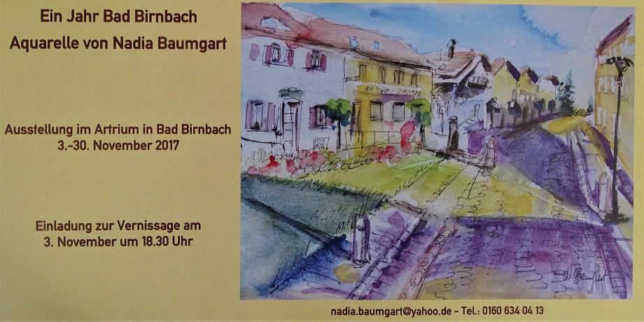 Einladungskarte-Aquarelle-Bad-Birnbach-Nadia-Baumgart