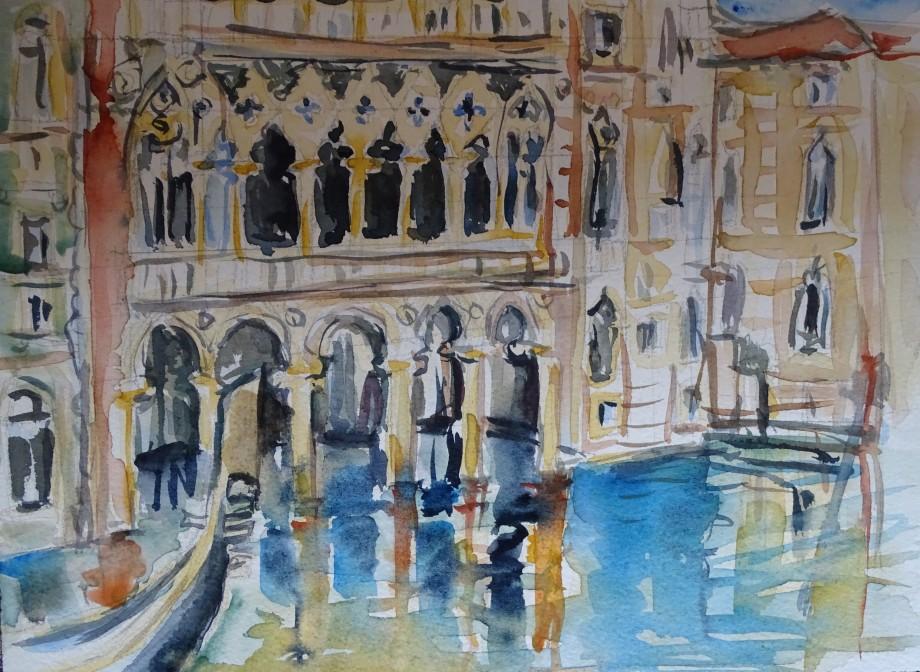 venedig-aquarell-nadia-baumgart