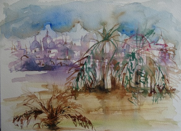 oasis-aquarell-oase-nadia-baumgart
