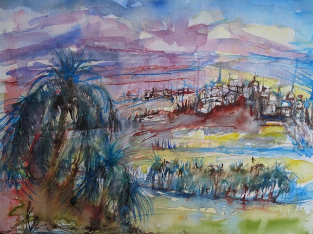oriental-dream-aquarell-watercolour-nadia-baumgart