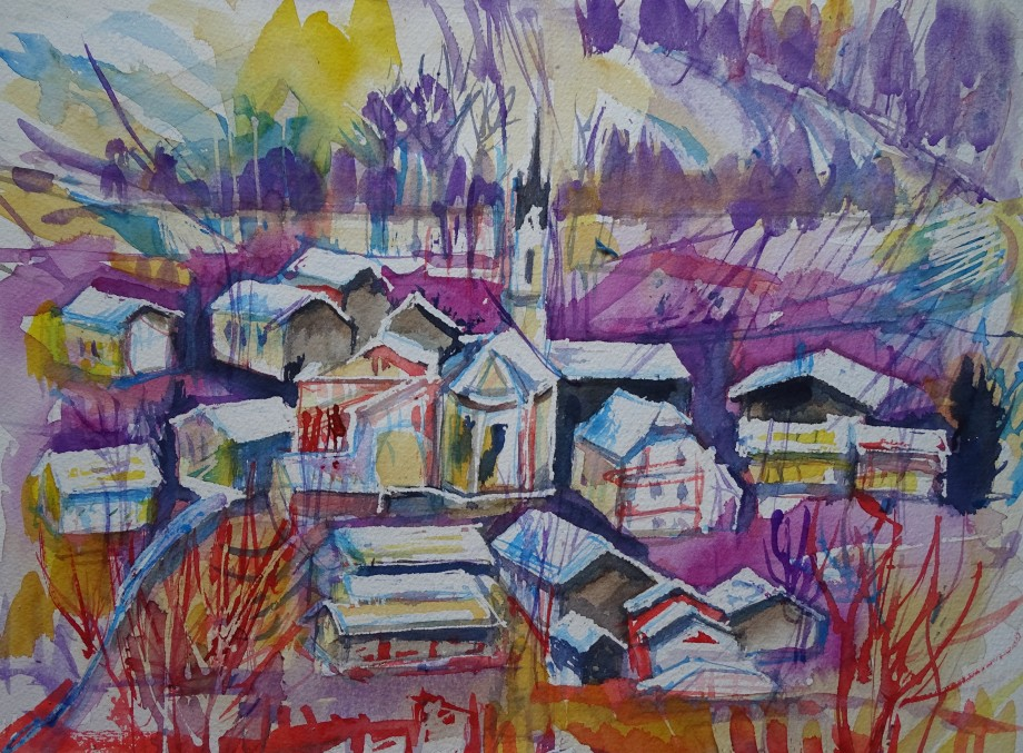 winter-in-niederbayern-aquarell-nadia-baumgart