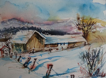 winterlandschaft-rottal-inn-nadia-baumgart-aquarell-2