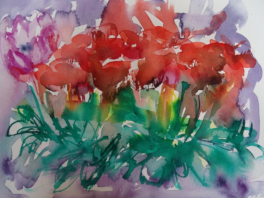 Flowers-Blumen-Aquarelle-Nadia-Baumgart
