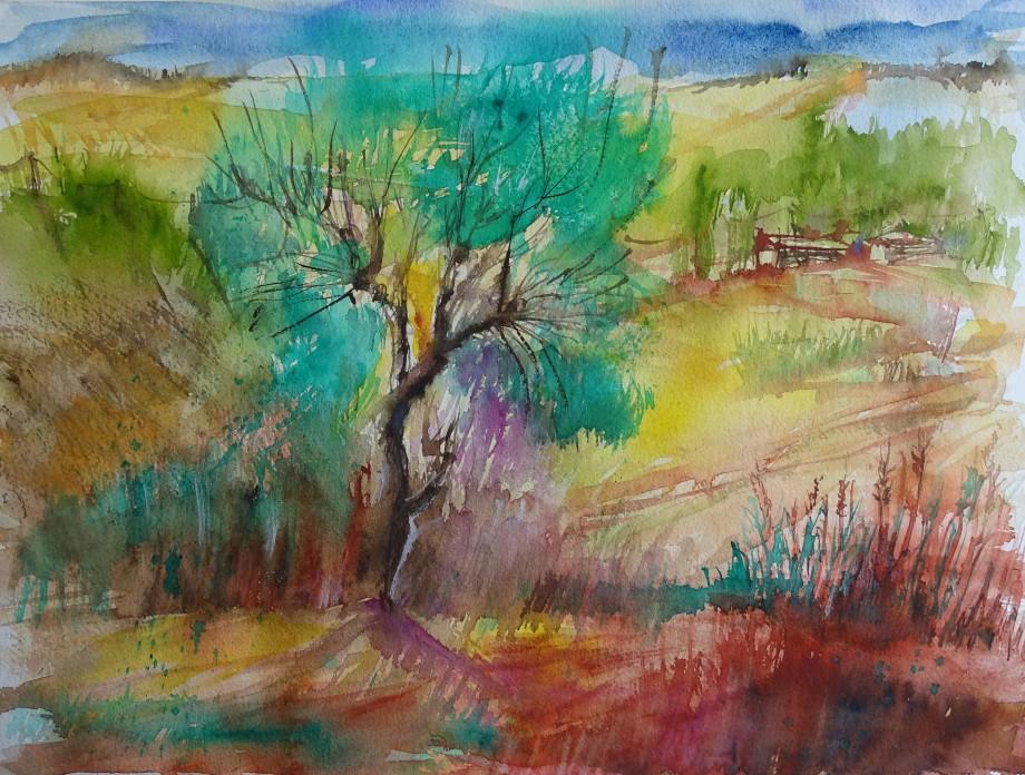 Frühling-im-Rottal-Aquarell-Nadia-Baumgart