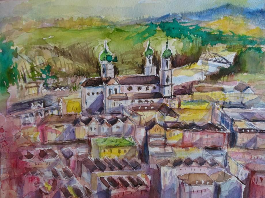 Passau-Aquarelle-Nadia-Baumgart