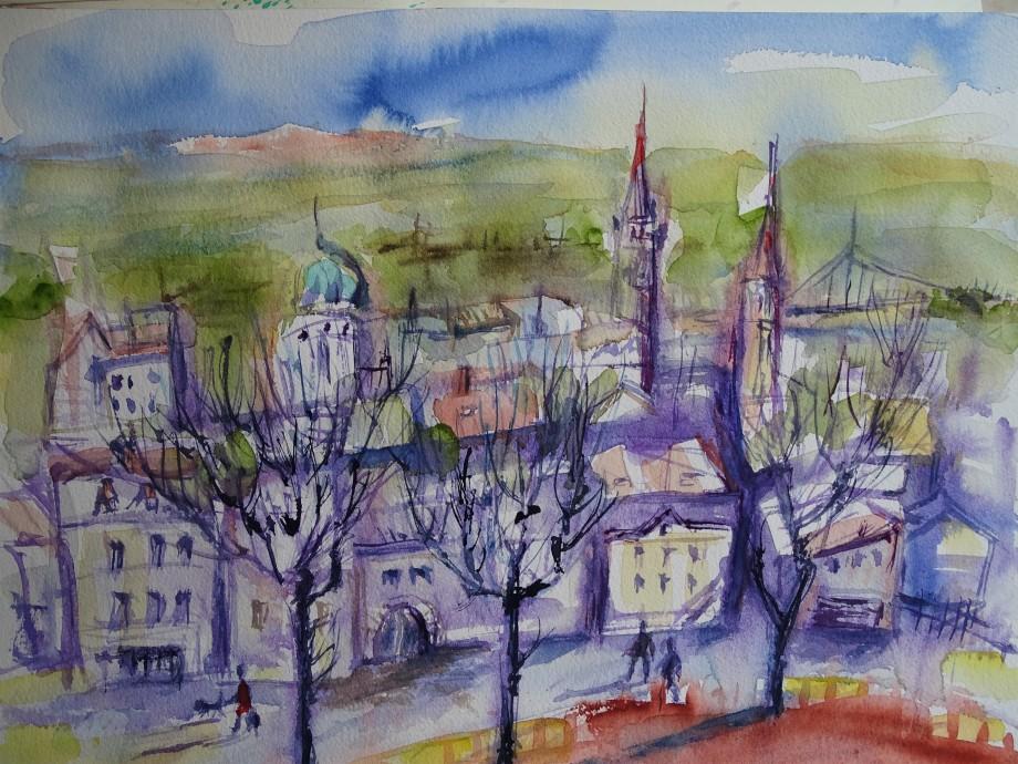 Stadt-Aquarell-Nadia-Baumgart
