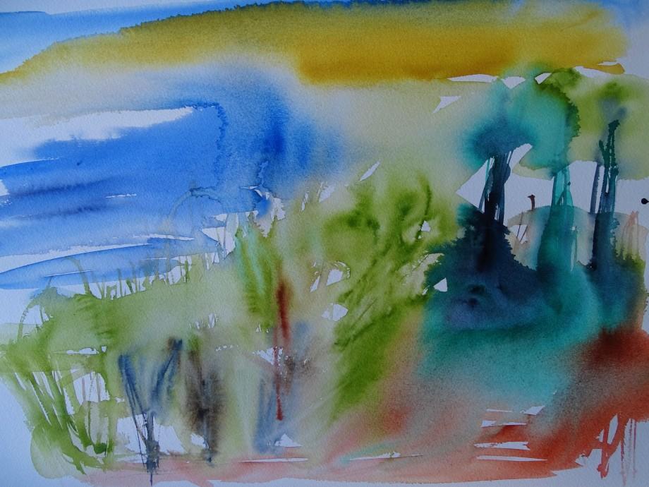 Mediterrane-Landschaft-Aquarelle-Nadia-Baumgart-2