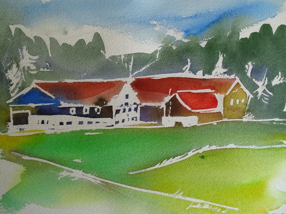 Bauernhof-Aquarelle-Nadia-Baumgart