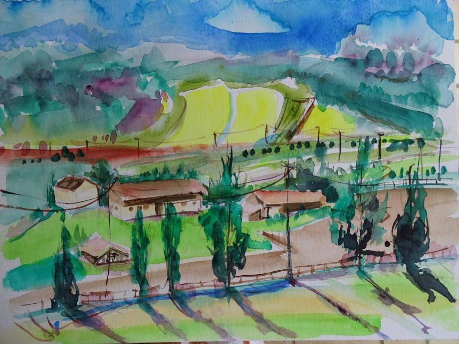 Bavarian-Landscape-Watercolour-Nadia-Nashed-Baumgart
