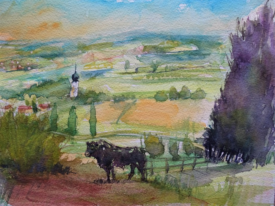 Countryside-Watercolour-Nadia-Baumgart