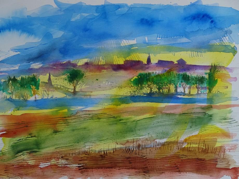 Landschaft-Aquarelle-Nadia-Baumgart-Rottal