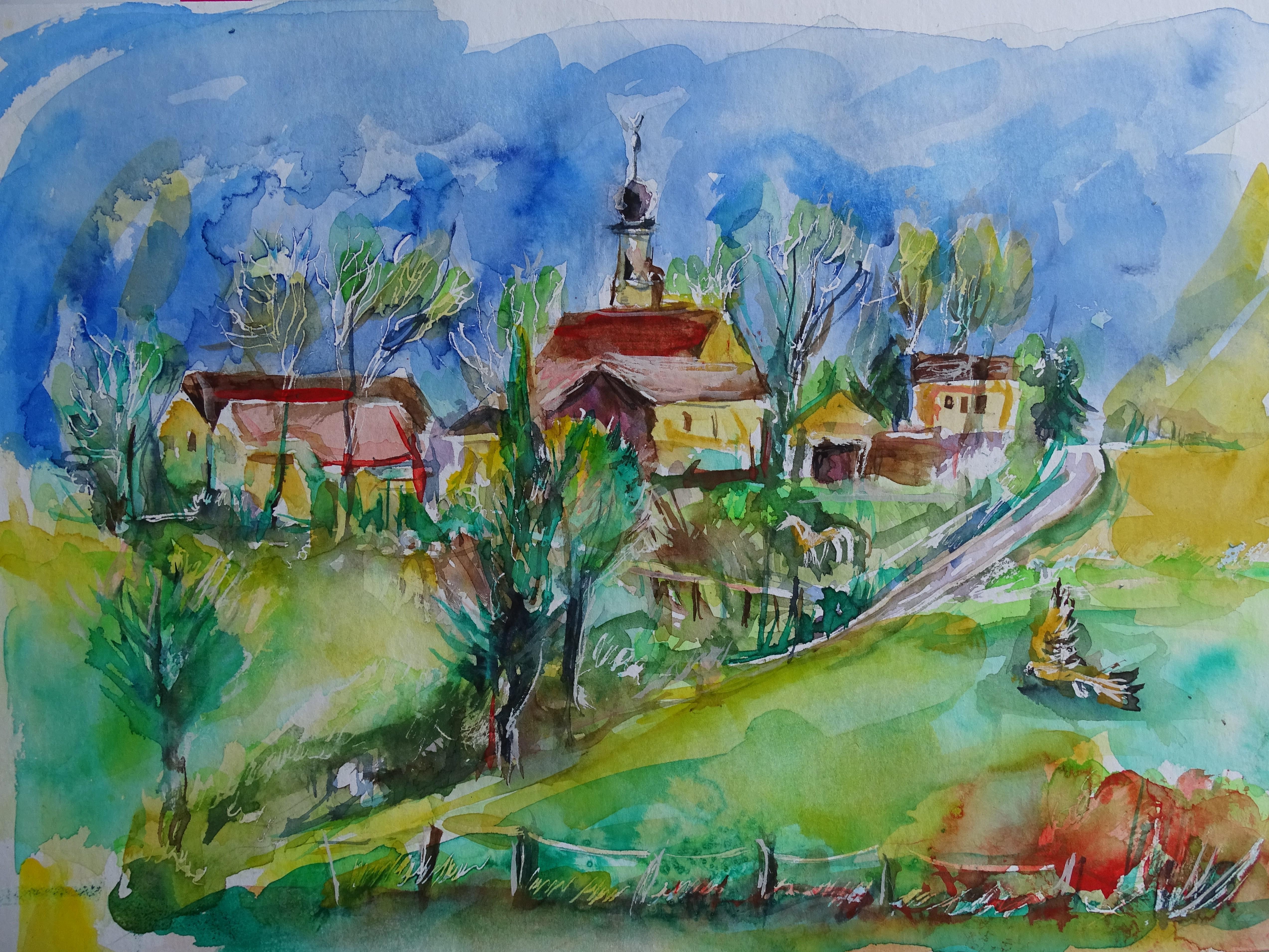 Langwinkl-Rottal-Aquarelle-Nadia-Baumgart