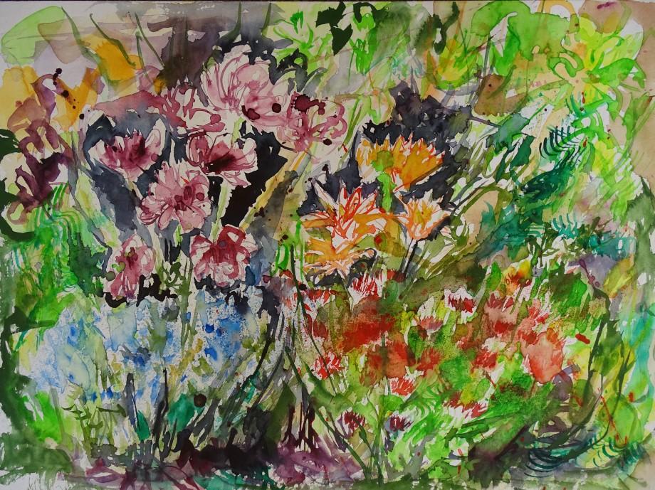 Mein Garten-Aquarelle-Nadia-Baumgart