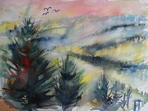 Nebel-Schellenberg-Aquarell-Nadia-Baumgart