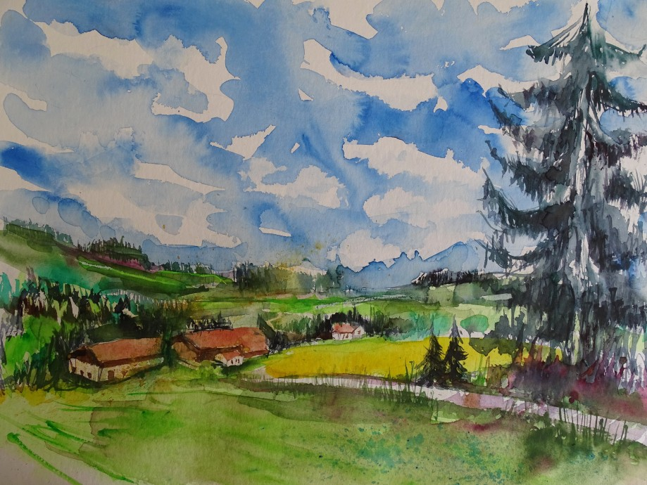 Rottal-Arnstdorf-Aquarelle-Nadia-Baumgart-