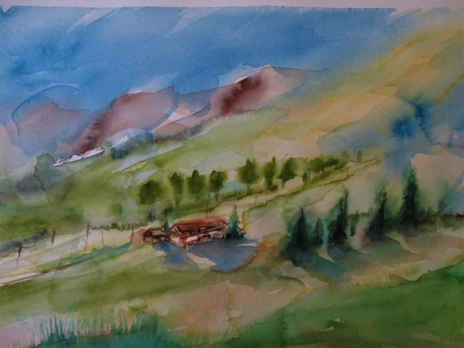 Bayerische-Landschaft-Aquarelle-Nadia-Baumgart-ueberarbeitet