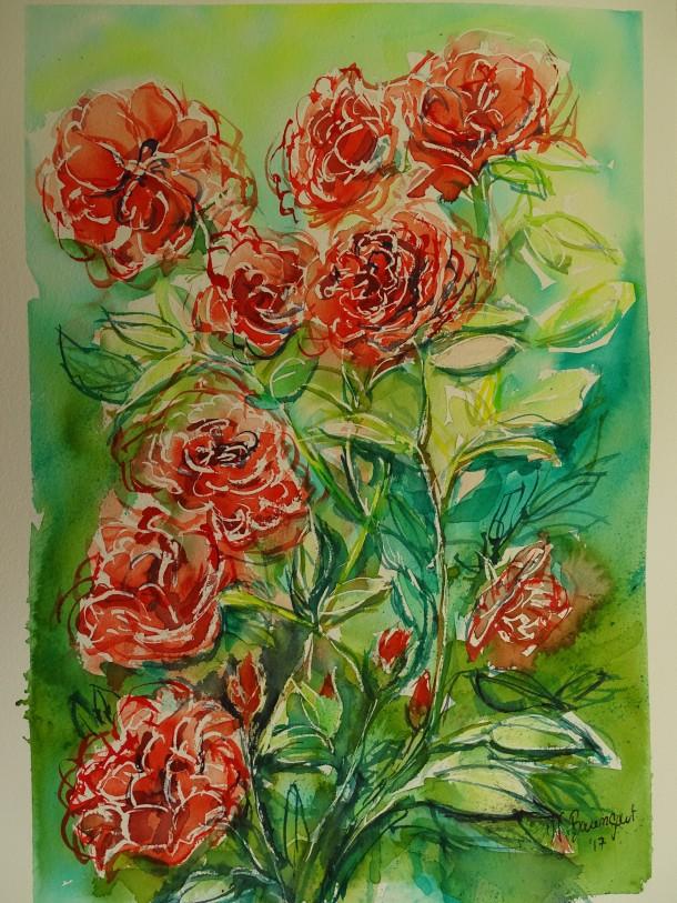 Rosen-Roses-Aquarelle-Watercolour-Nadia-Baumgart