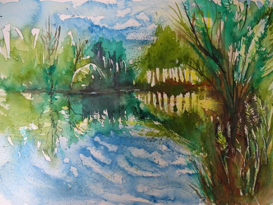 Teich-Aquarelle-Nadia-Baumgart-2