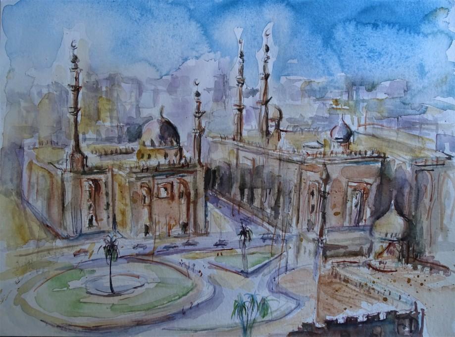 Kairo-Aquarelle-Nadia-Baumgart