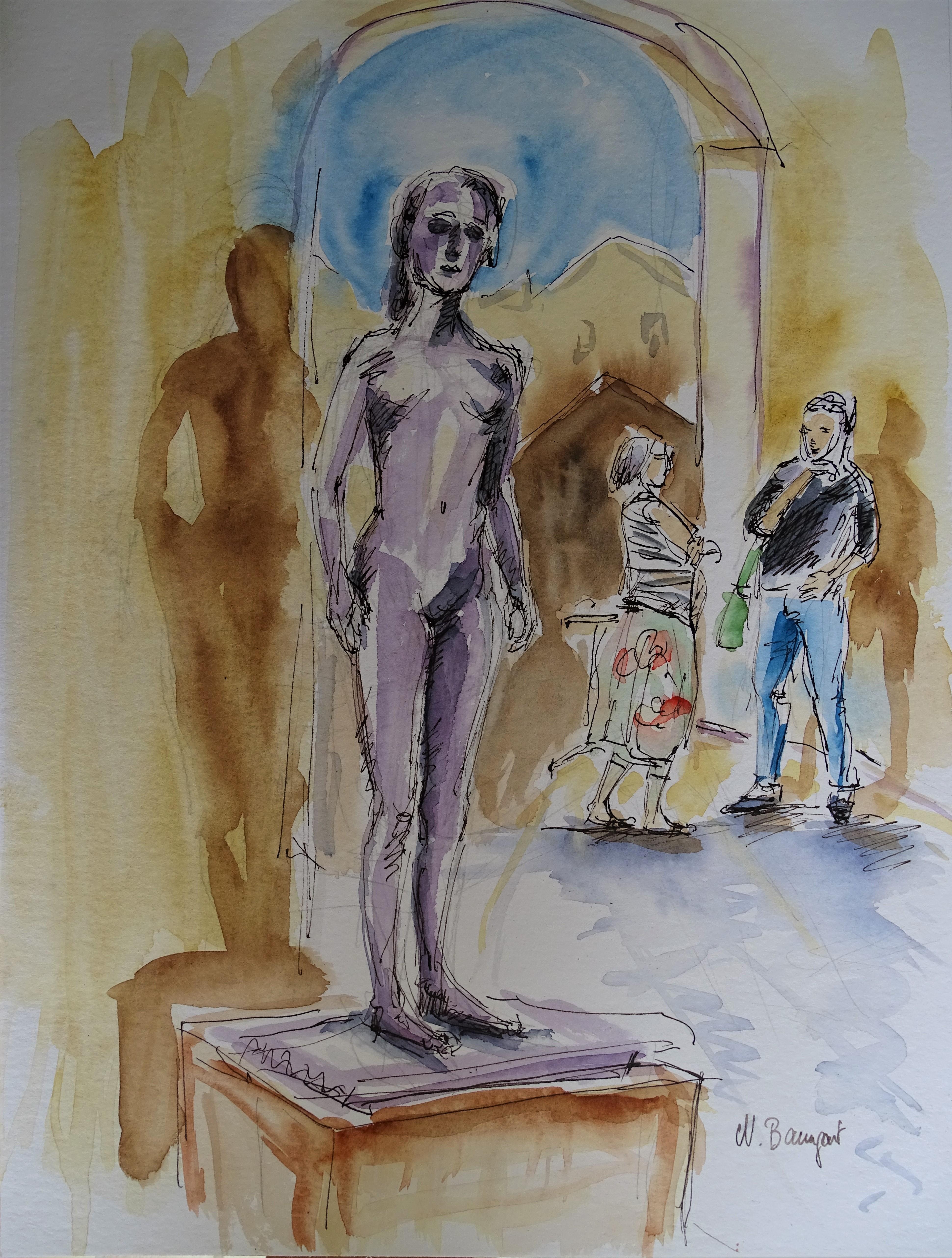 Tuschezeichnung-Glasbau-Pfarrkirchen-Nadia-Baumgart
