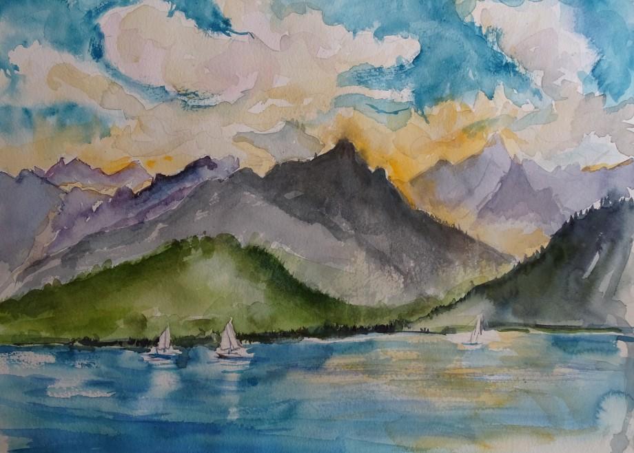 Alpen-Aquarell-Nadia-Baumgart