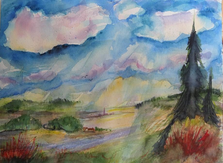 Bayerische-Landschaft-Aquarelle-Nadia-Baumgart-3