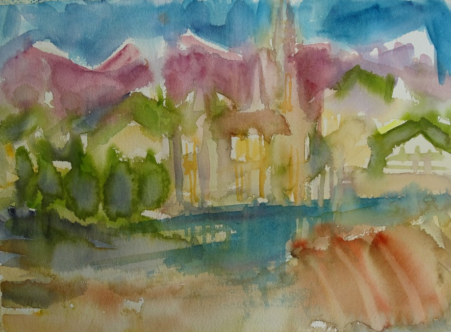 Cathedrale-Aquarelle-Nadia-Baumgart