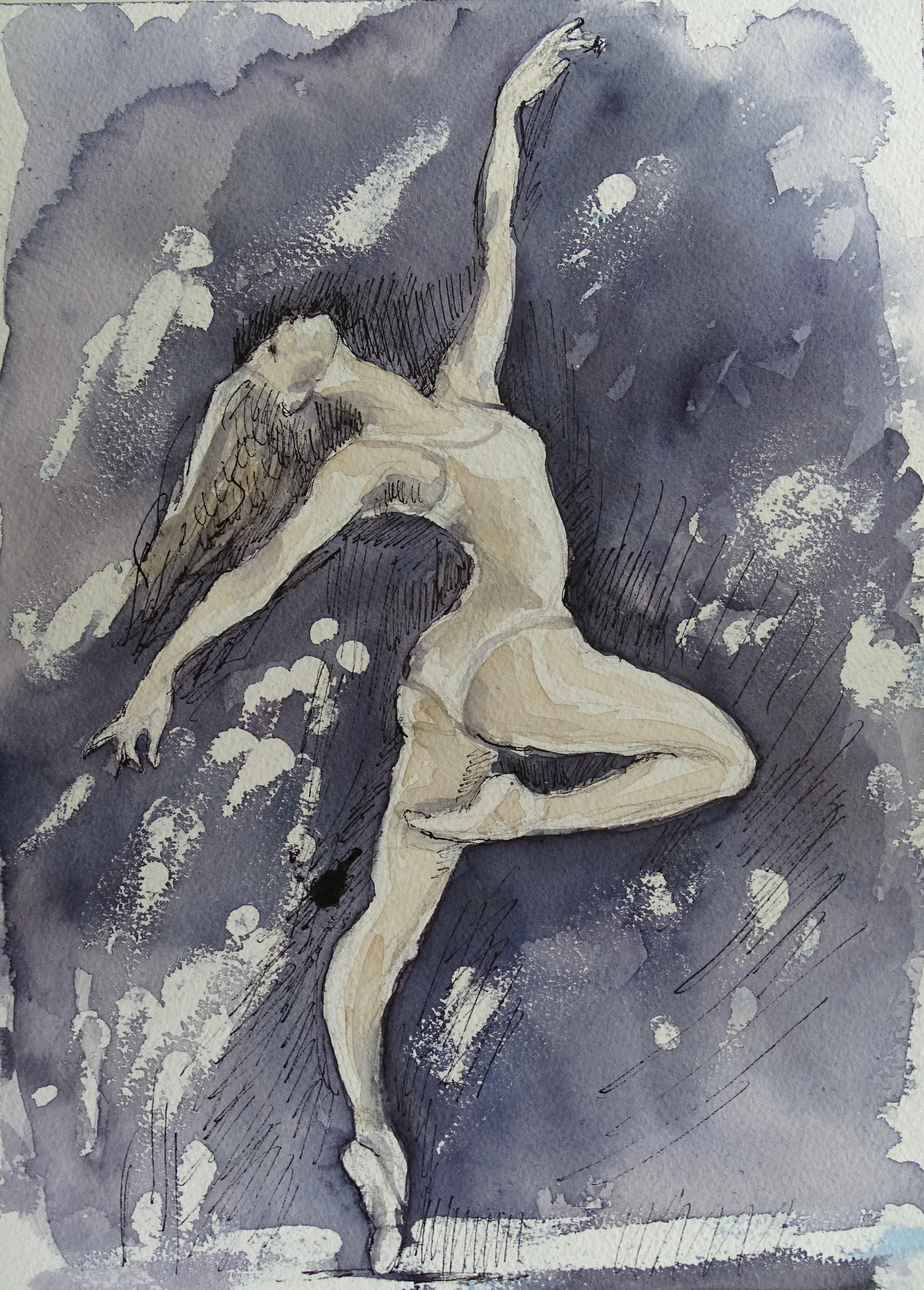 Jazzdance-Aquarelle-Nadia-Baumgart