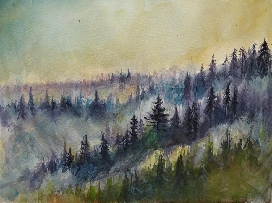 Wald-Arbersee-Aquarelle-Nadia-Baumgart-3