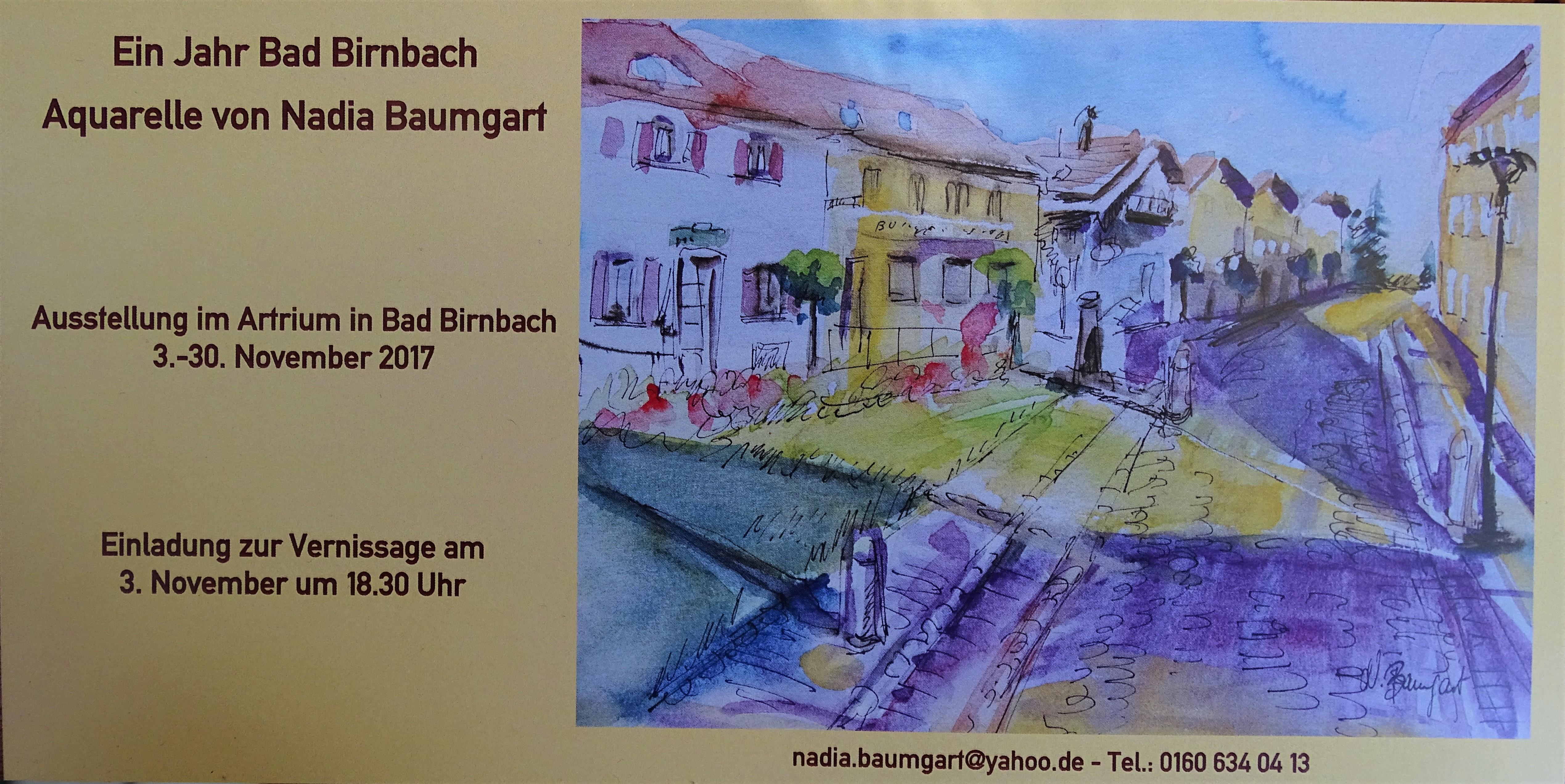 Aquarelle Nadia Baumgart Bad Birnbach