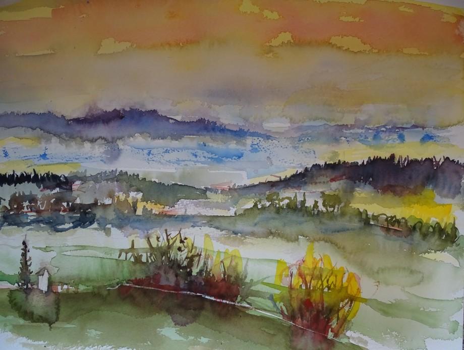 Herbst-2-Aquarelle-Bad-Birnbach-Nadia-Baumgart