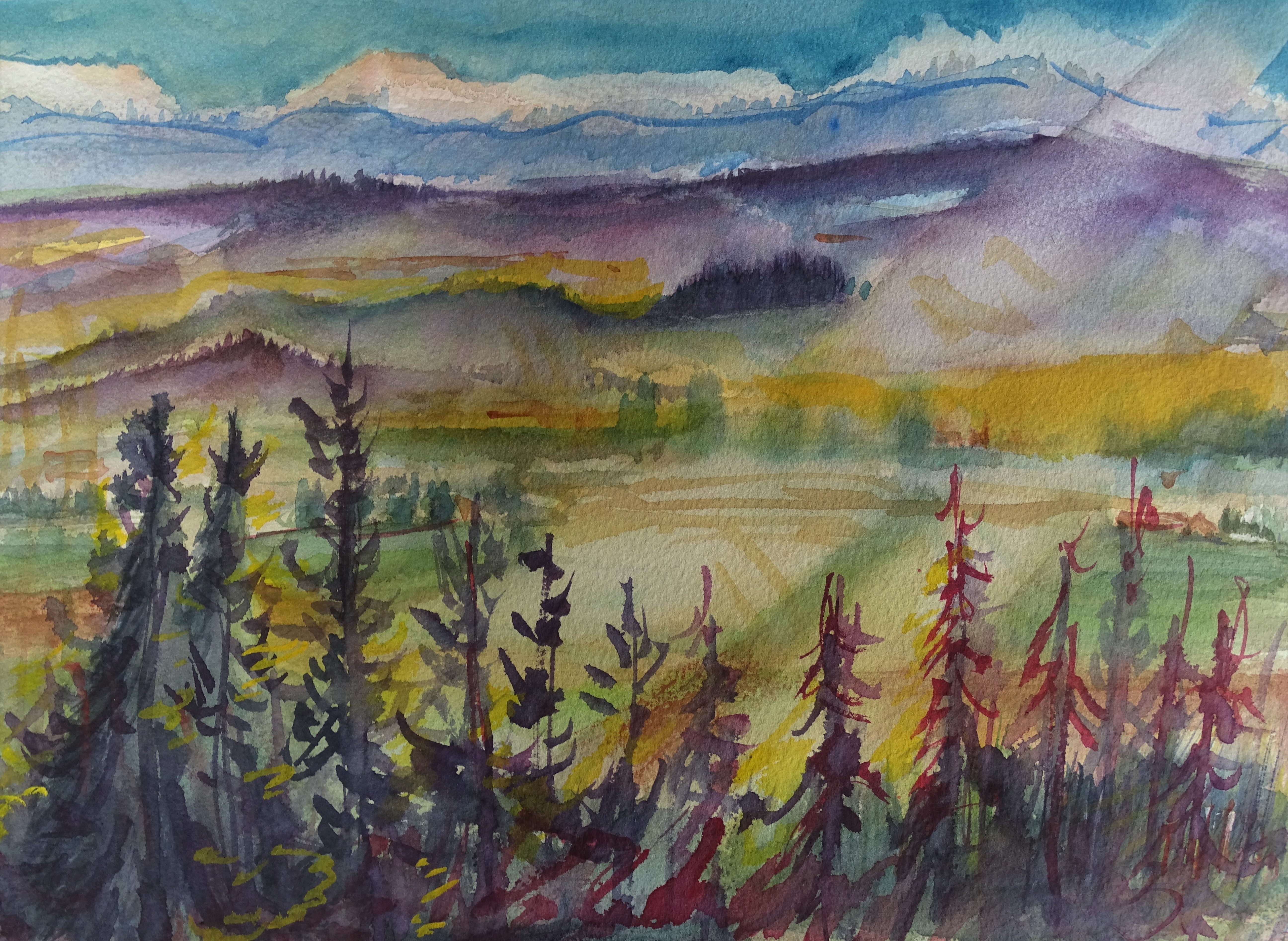 Herbst-Aquarelle-Bad-Birnbach-Nadia-baumgart