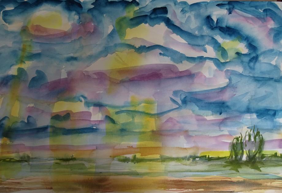 Herbsthimmel-Aquarelle-Nadia-Baumgart