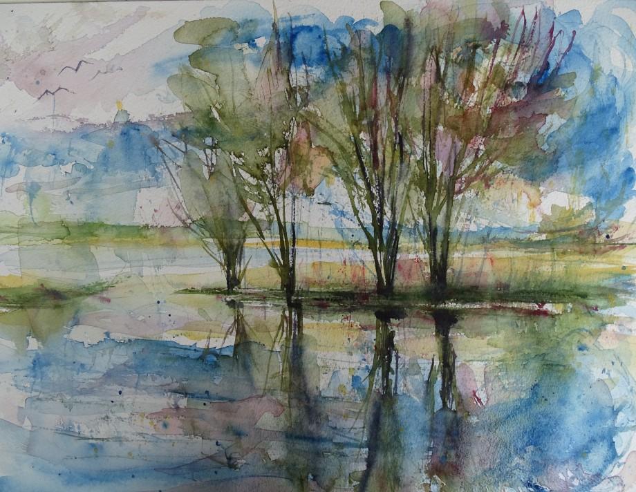 See-im-Herbst-Aquarelle-Nadia-Baumgart