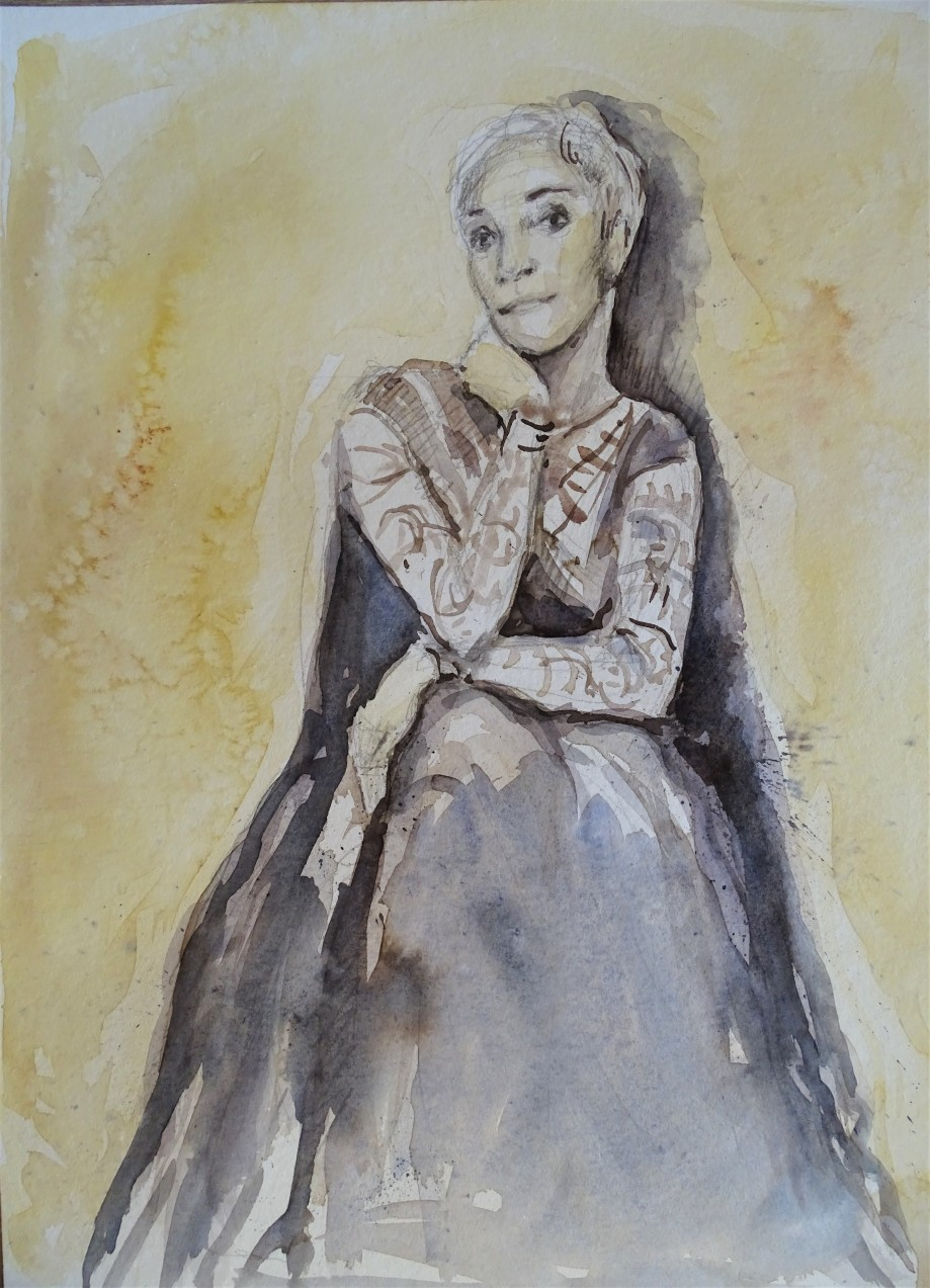 Fado-Mariza-Aquarell-Malerei-Nadia-Baumgart