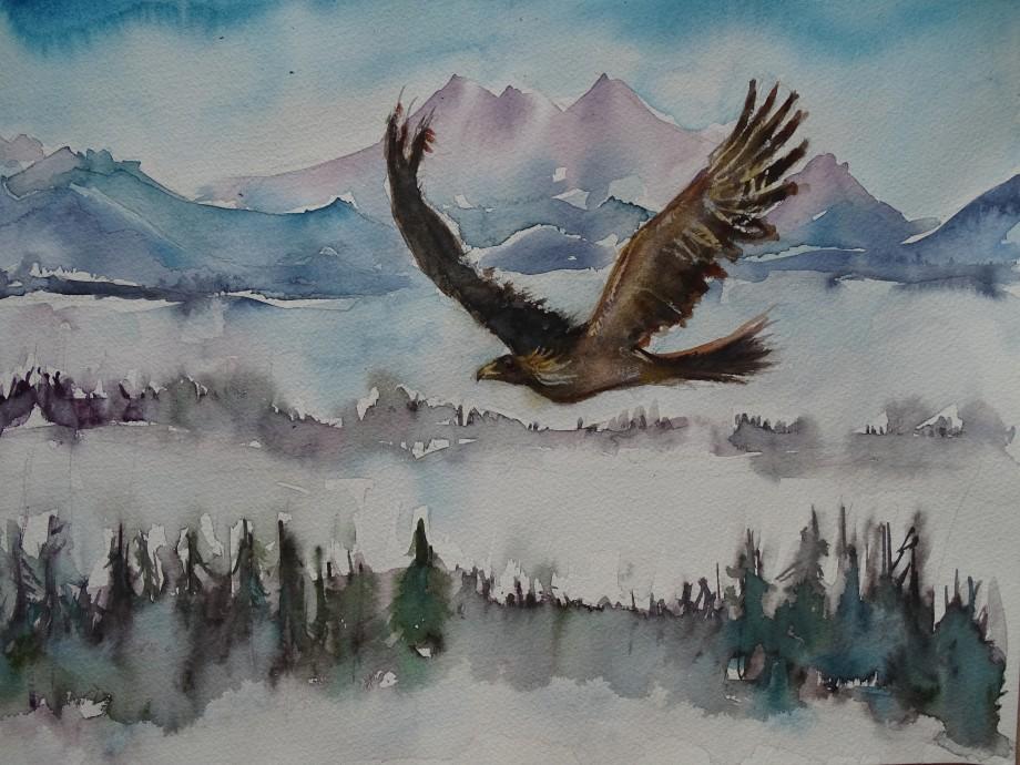 Freedom-Aquarell-Malerei-Nadia-Baumgart