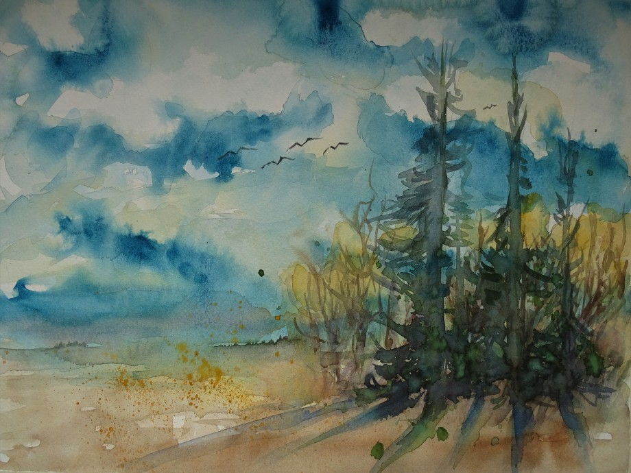 Landschaft-2-Aquarelle-Malerei-Nadia-Baumgart