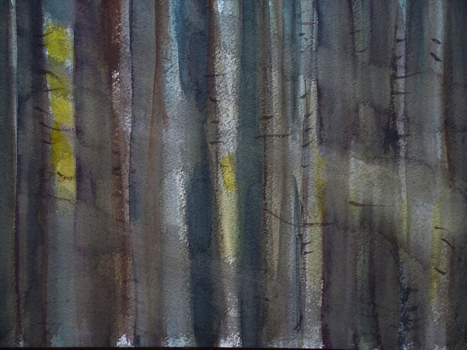 Waldlicht-2-Aquarelle-Malerei-Nadia-Baumgart