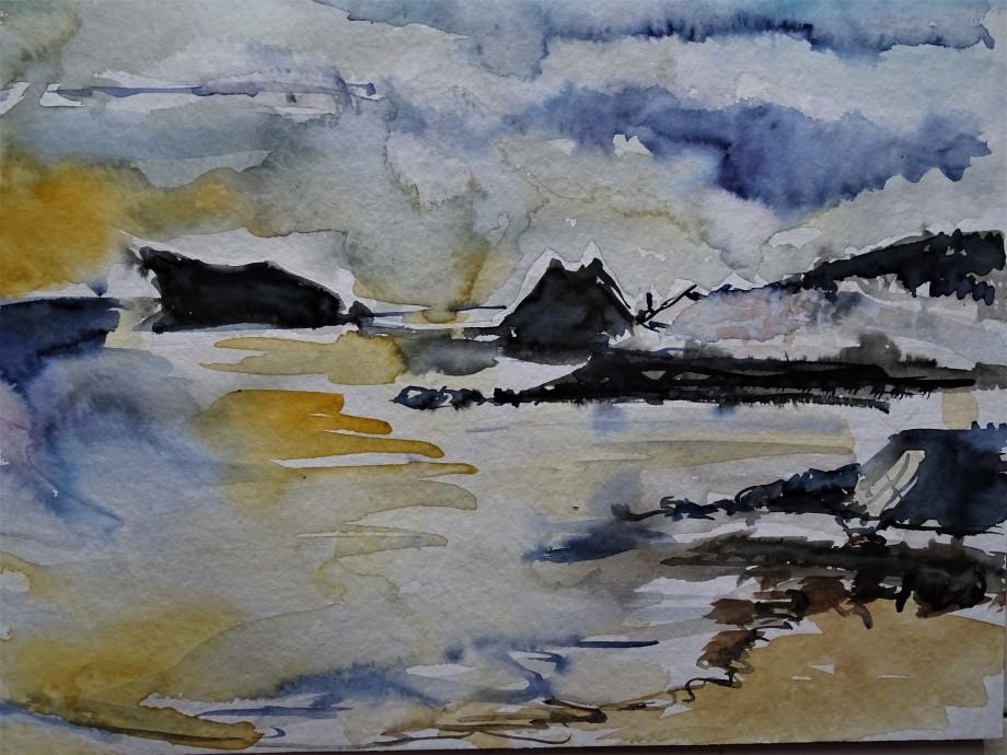 Azoren-Ozean-Aquarell-Nadia-Baumgart