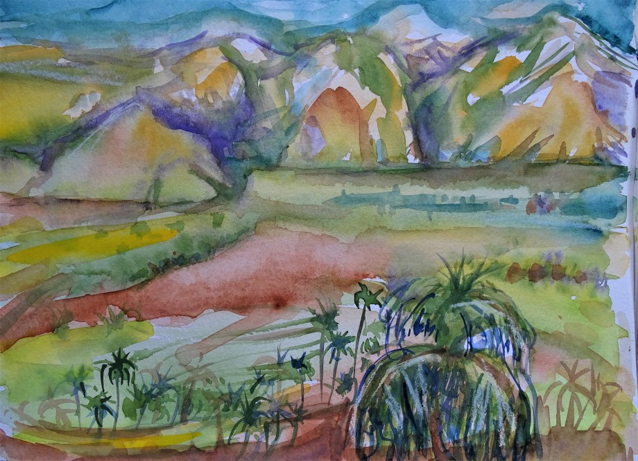 Vinales-Kuba-Aquarell-Nadia-Baumgart