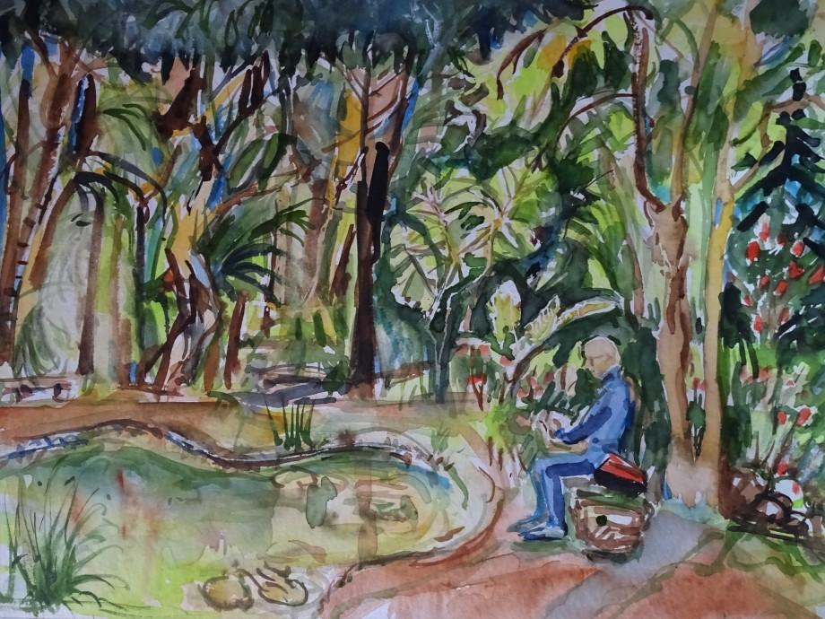 Botanical-garden-aquarell-Nadia-Baumgart